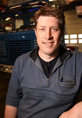 Torbjörn Olausson bytte bana från åkeriägare till bilskrotare.