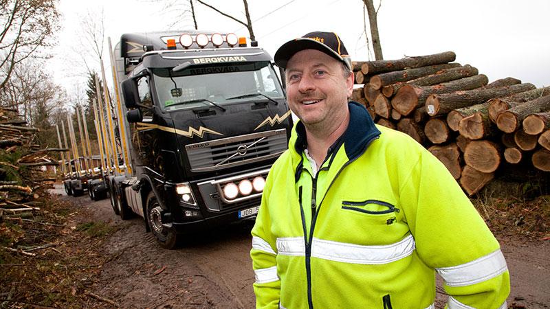 Anders Svensson, 49, har kört timmer sedan 1985.