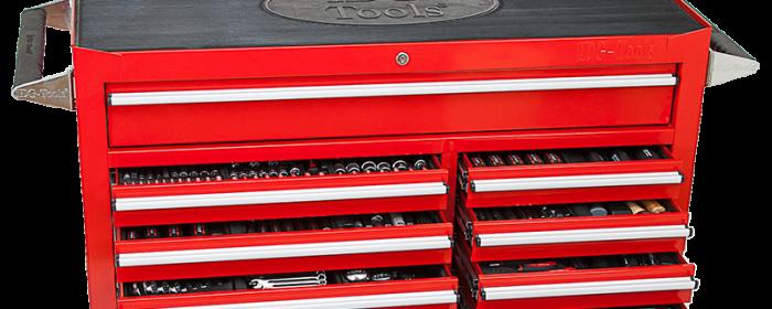Ny verktygsvagn med 13 lådor