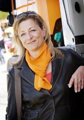 Maskinexpos marknadschef Carina Tegelberg.