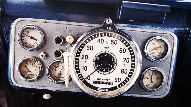 Alla instrumenten fungerar och ger föraren nödvändig information.