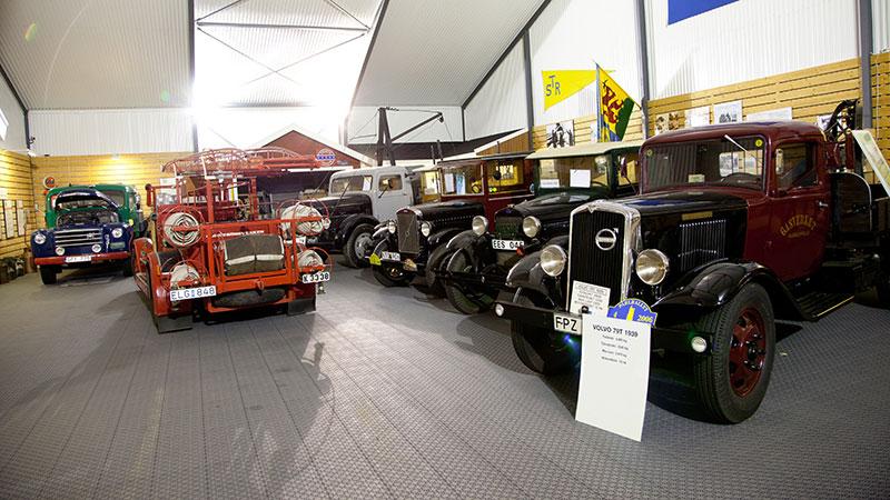 Samlingen omfattar flera ovanliga lastbilar, varav samtliga är i fullt fungerande skick.