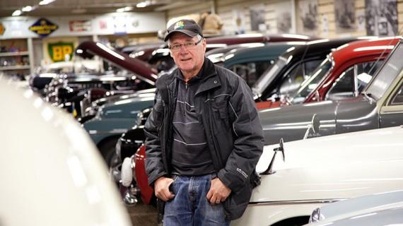 Kjell Olsson samlar gärna stora bilar.