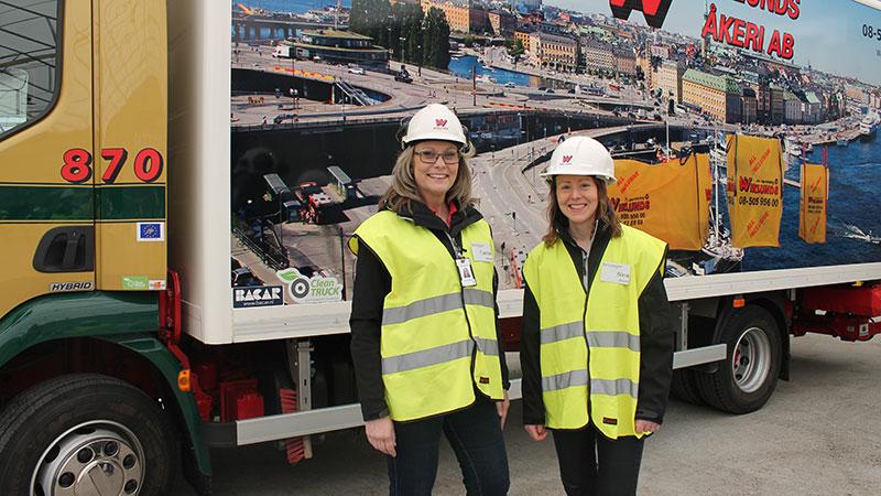 Carina Hammarlund och Nina Neumann på Wiklunds Åkeri.