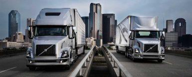 Lastbilsleveranser i januari för Volvo