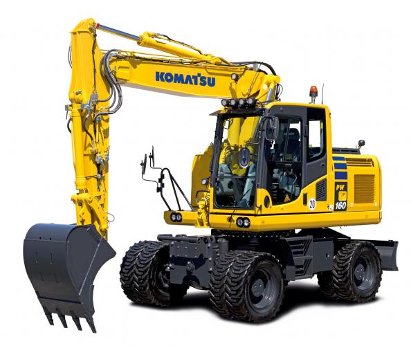 Ny Komatsu-grävare