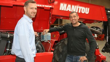 Erfaren maskinman i spetsen för Manitou-service