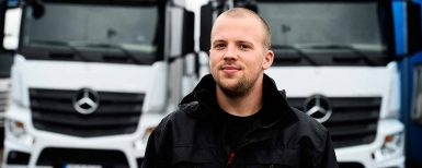 Sveriges snålaste lastbilsförare utsedd