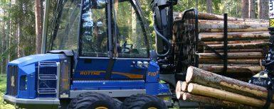Krympande marknad för skogsmaskiner