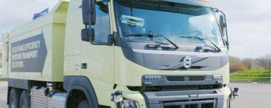 Demonstration av självkörande lastbil