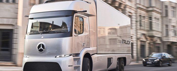 Premiärvisning av Mercedes tunga el-lastbil
