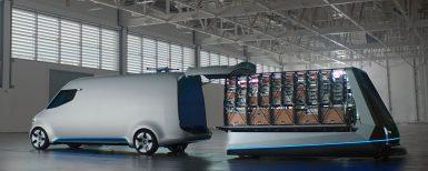 Framtidens transportbil – med drönare och joystick