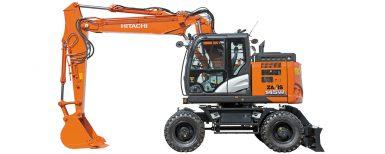 Hitachis nya hjulgrävare på Entreprenad Live