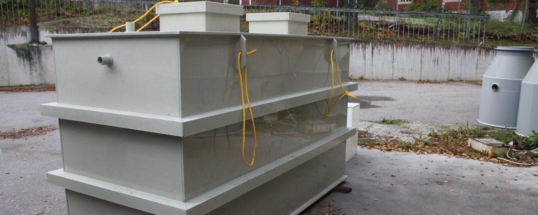 Kenrex oljeavskiljare kan placeras inomhus eller utomhus och anslutas till befintlig spolränna.