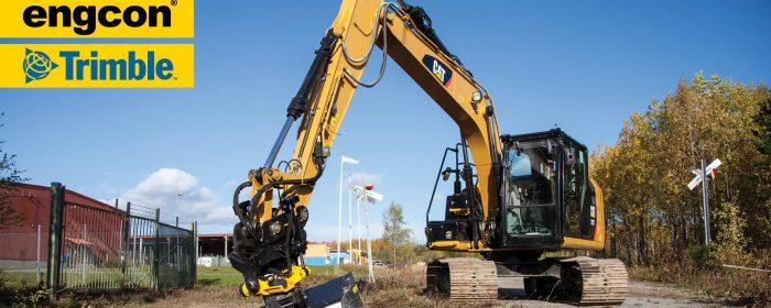 Engcon stödjer Trimbles nya grävsystem