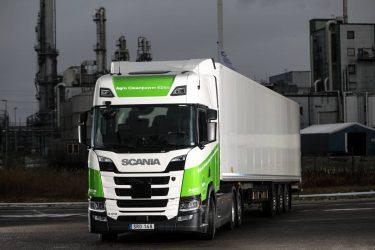 Världens första ED95-lastbil för tyngre transporter invigd
