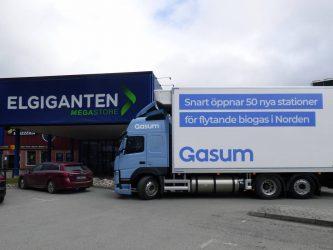 Elgiganten i samarbete med Volvo och Gasum