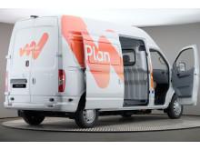 Första eldrivna lätta lastbilen kommer till Sverige