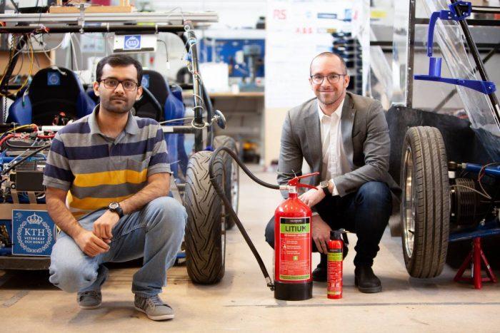 KTH minskar risken för litiumbatteribränder