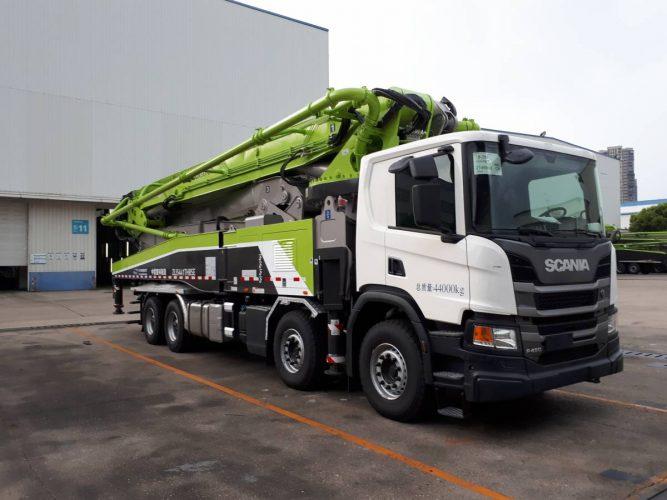 Storleverans för Scania till kinesiska Zoomlion