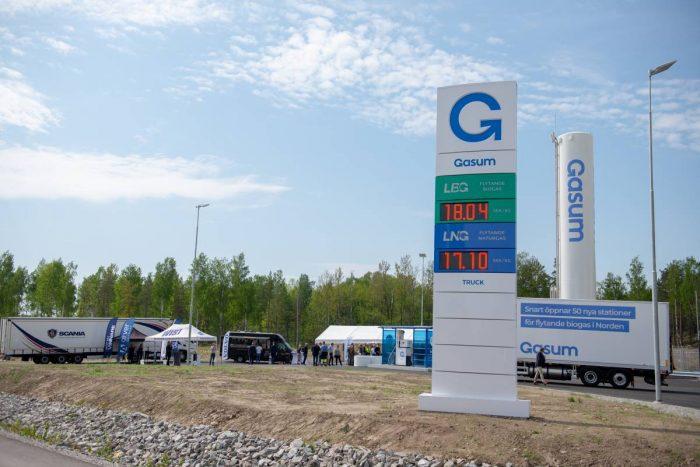 Snabb ökning av gastankstationer för tung trafik