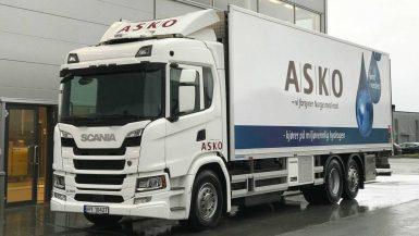 Asko tar elektriska vätgasdrivna bränslecellslastbilar från Scania i drift