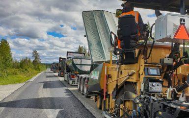 Stort kontrakt i Västerbotten till Peab Asfalt