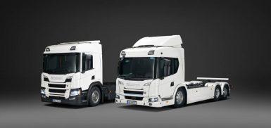 Lanserar det första produktutbudet av el-lastbilar