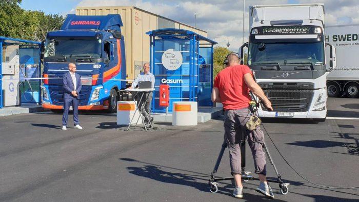 Ny tankstation för tunga transporter i Göteborgs hamn