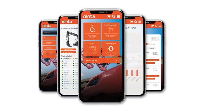 Renta lanserar app för maskinuthyrning