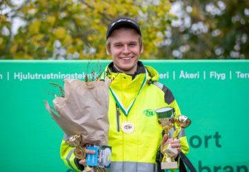 Han är Sveriges bästa unga lastbilsförare