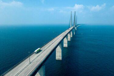 Minimal minskning av godstrafiken över Öresundsbron 2020