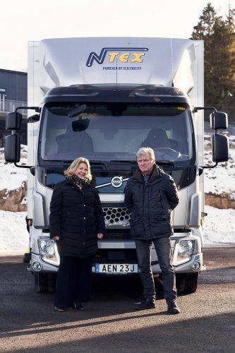 NTEX ställer om till fosilfritt – startar med en eldriven lastbil från Volvo Lastvagnar