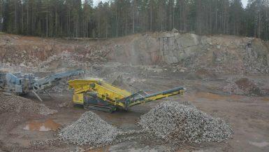 Investerar för högre kapacitet i bergtäkten