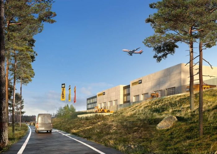 Ny huvudanläggning för Zeppelin vid Landvetter