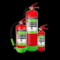 Tre nya AVD-släckare för brand i litiumjonbatterier