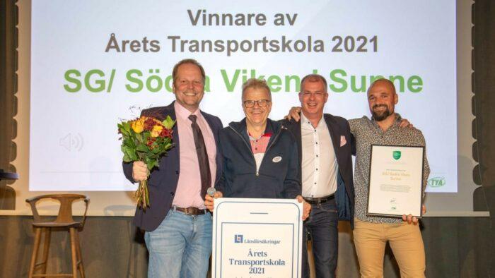 Priset Årets Transportskola till SG Södra Viken i Sunne