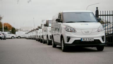 50 eltransportbilar levererade av Maxus till svenskt företag