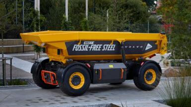 Världens första fordon tillverkat av fossilfritt stål
